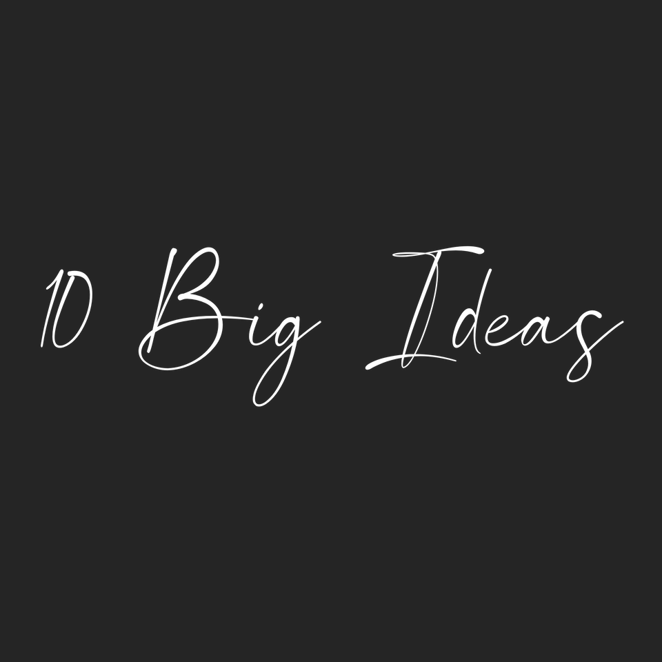 Ideas that shaped me